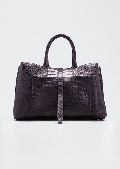 Astrid Medium Crocodile Tote Bag