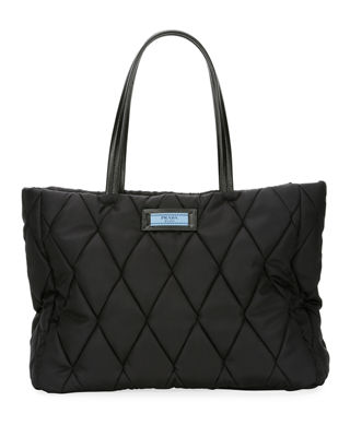 Tessuto Bomber Shoulder Bag in Black