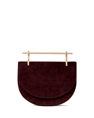 MINI HALF-MOON VELVET TOP HANDLE BAG