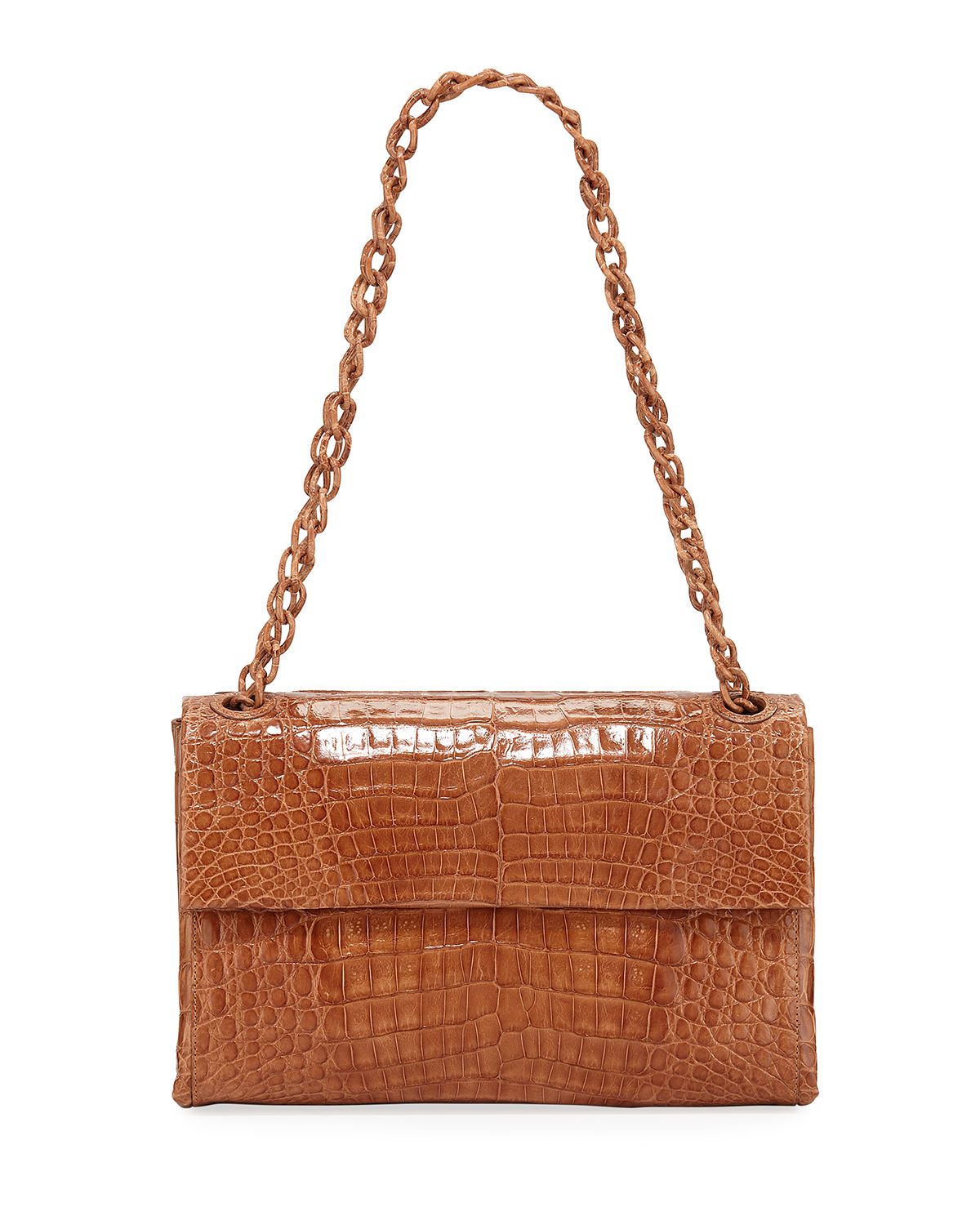 Nancy Gonzalez Madison Adjustable Chain Shoulder Bag In Camel