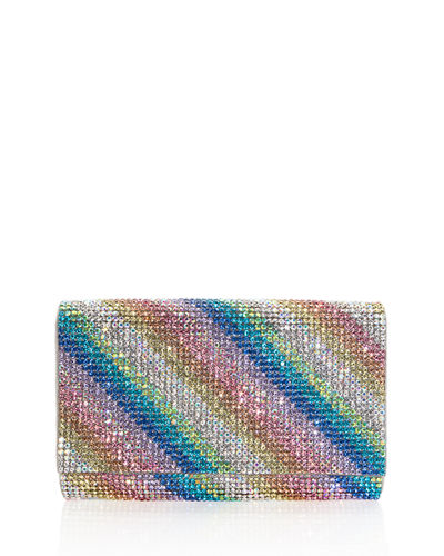 Judith Leiber Couture Fizzy Rainbow Crystal Full-Beaded Clutch