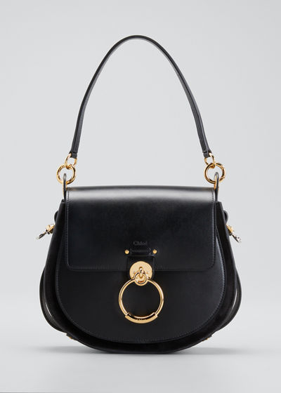 Tess Large Leather/Suede Camera Crossbody Bag