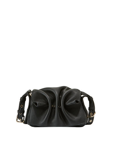 Bloomy Mini Gathered Leather Shoulder Bag