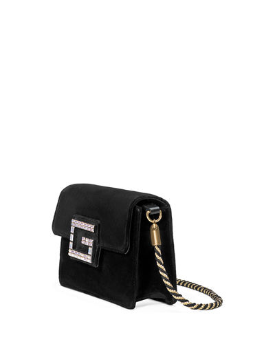 66ee965be976 Gucci Broadway Small Velvet Shoulder Bag with Square G