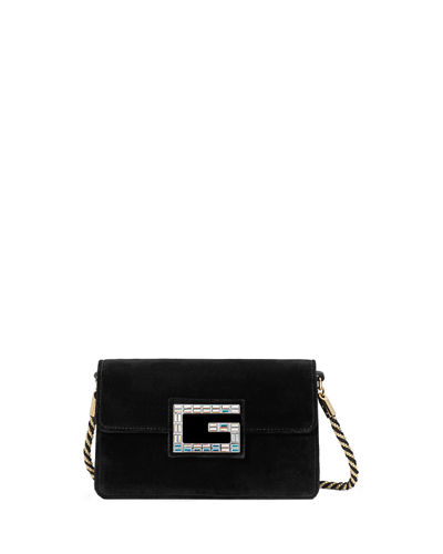 Gucci Broadway Small Velvet Shoulder Bag with Square G 57d16a8868e98
