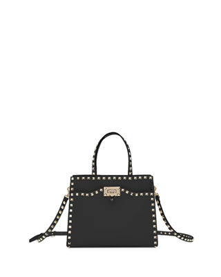ROCKSTUD MEDIUM VITELLO LEATHER TOTE BAG