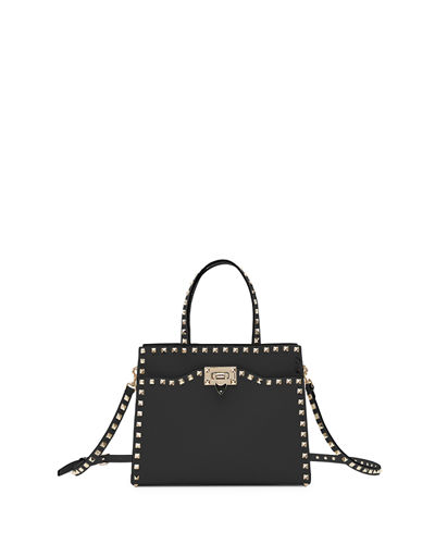 Rockstud Small Vitello Leather Tote Bag