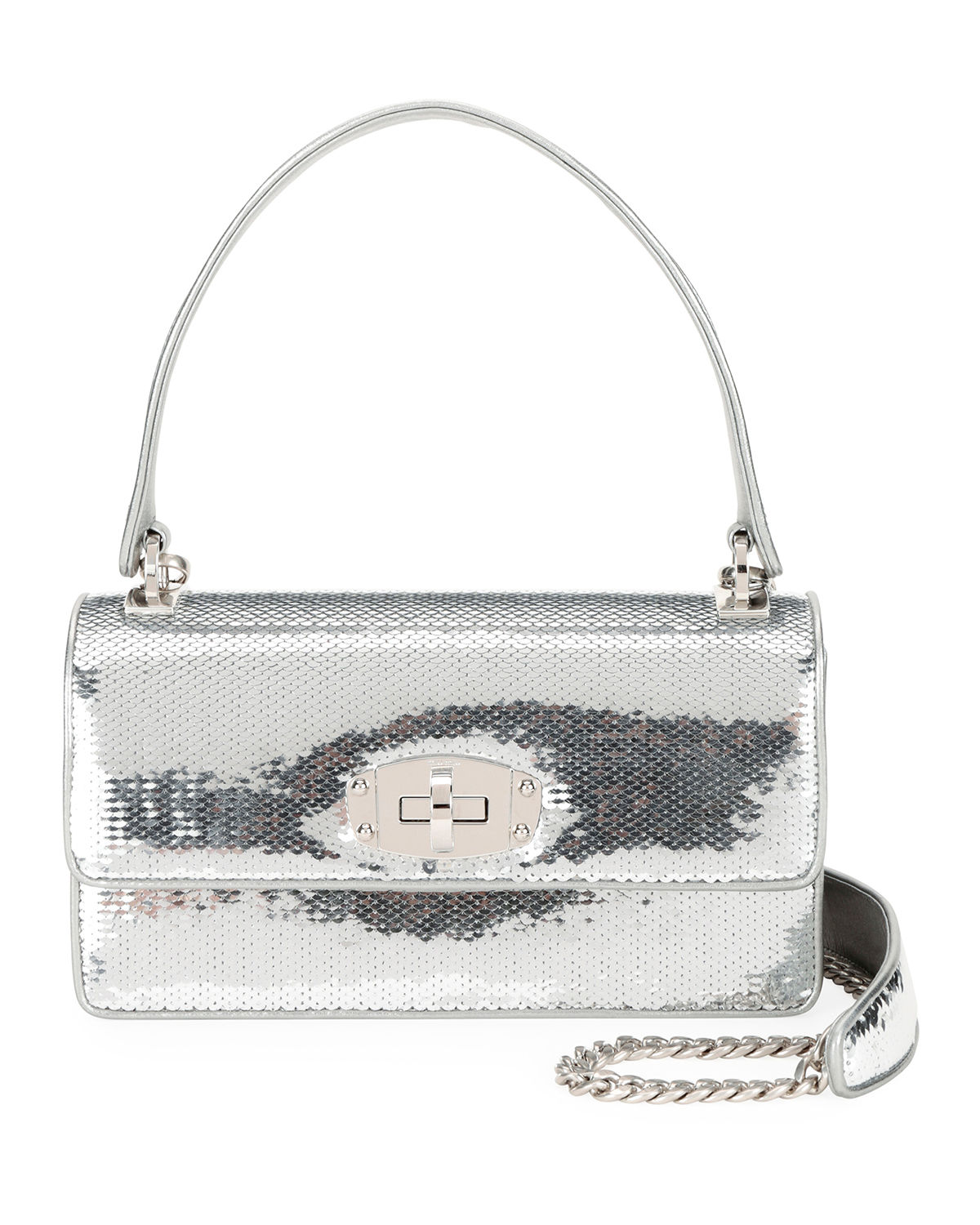 Cleo Sequined Top-Handle Shoulder Bag