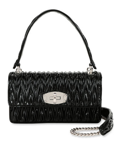 0f3b8da89b Vernice Matelasse Cleo Top Handle Bag