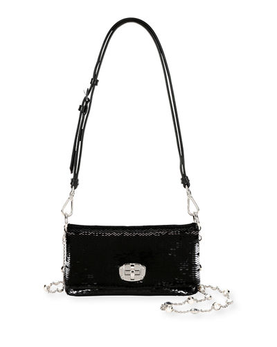 Paillettes Leather Small Crossbody Bag
