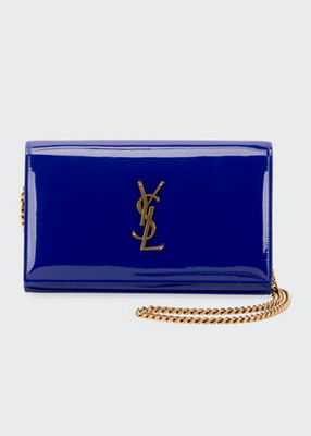 KATE MONOGRAM PATENT WALLET ON CHAIN