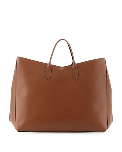 Vertical Leather Tote Bag