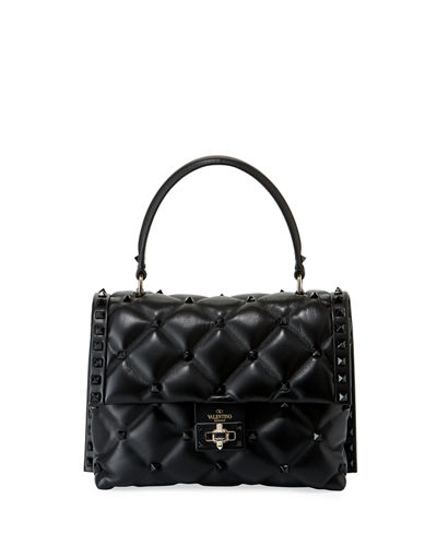 Candystud Quilted Leather Top-Handle Bag - Tonal Studs