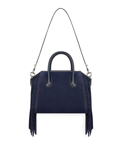 Antigona Small Fringed Satchel Bag
