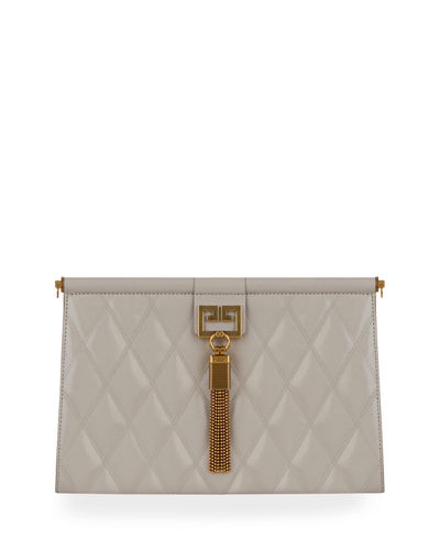 Gem Medium Quilted Leather Shoulder Bag