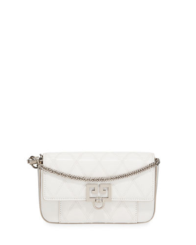 Pocket Mini Pouch Convertible Clutch/Belt Bag - Silvertone Hardware