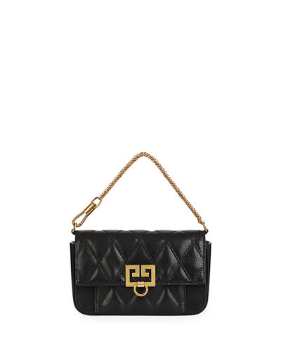 Pocket Mini Pouch Convertible Clutch/Belt Bag - Golden Hardware