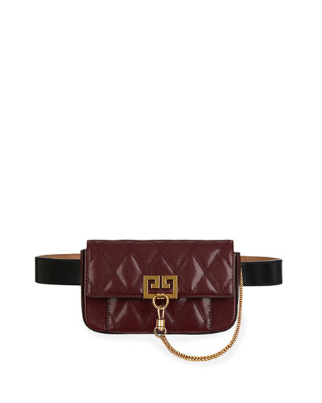 Givenchy Leathers POCKET MINI POUCH CONVERTIBLE CLUTCH/BELT BAG - GOLDEN HARDWARE