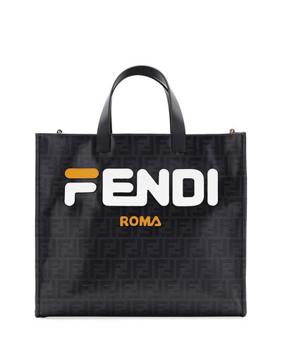 Fendi Runway Collection Calf Leather and Canvas Tote Bag 8f6a63a816518