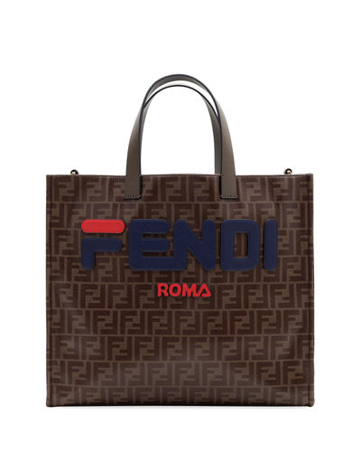 416a6dea8830 Fendi Runway Collection Calf Leather and Canvas Tote Bag