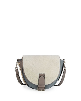 J.W.ANDERSON SHEARLING BIKE CROSSBODY BAG