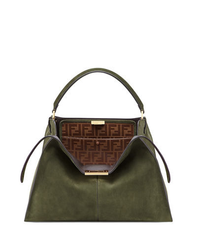 Peekaboo X-Lite Suede & Leather Satchel Bag