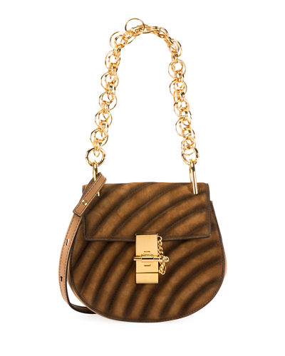 Drew Bijou Mini Suede Shoulder Bag