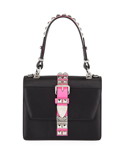 Elektra City Calf & Saffiano Leather Top-Handle Bag