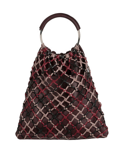 Woven Xarxa Top Handle Bag
