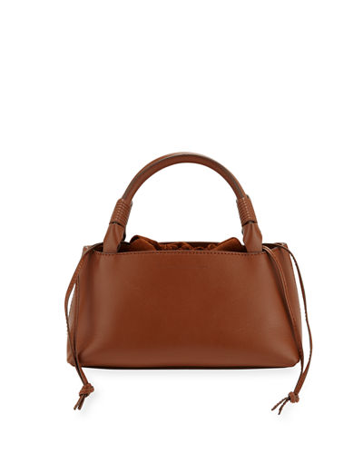Sirena Leather & Suede Drawstring Top Handle Bag