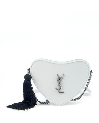 Sac Coeur Monogram YSL Heart Tassel Box Clutch Bag