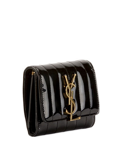 Vicky YSL Monogram Compact Trifold Wallet