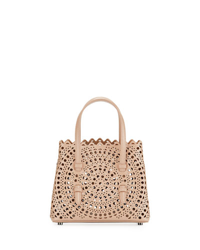 Micro New Vienne Laser-Cut Leather Tote Bag