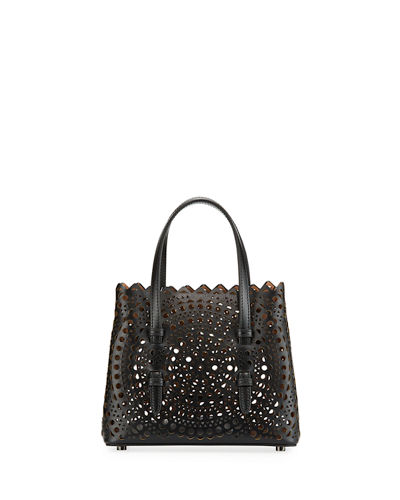 8eef139894131d Micro New Vienne Laser-Cut Leather Tote Bag