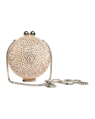MARZOOK Crystal Orb Minaudiere in Gold