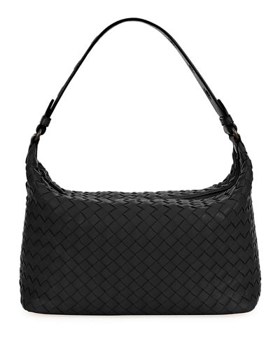 Small Intrecciato Hobo Bag Quick Look. BLACK  LIGHT GRAY  RED. Bottega  Veneta 9d0a1f42893b3