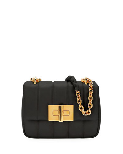 Natalia Small Quilted Leather Flap Shoulder Bag