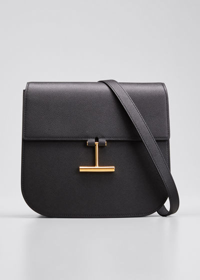 Tara Large Calf Grain Leather Shoulder Bag