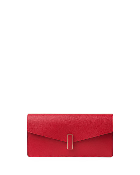 Valextra ISIDE SAFFIANO LEATHER ENVELOPE CLUTCH BAG