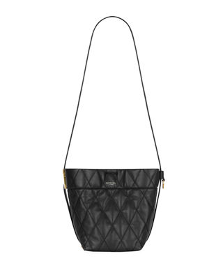 Gv Quilted Mini Bucket Bag in Black