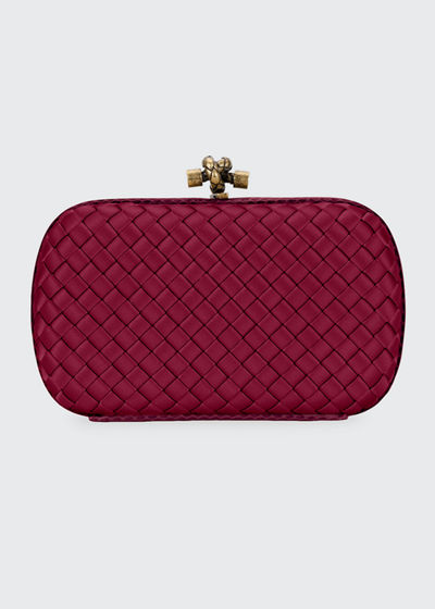bd22a8889aba Woven Satin Chain Knot Clutch Bag Quick Look. RED  MEDIUM PINK. Bottega  Veneta
