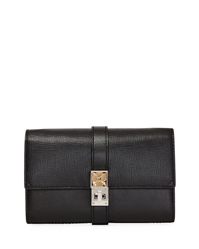 Ps11 Chain Mixed Leather Shoulder Bag