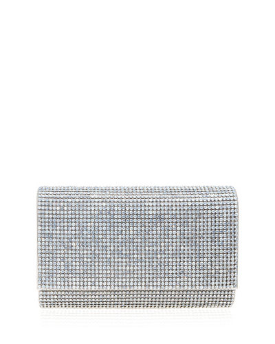 aa7fdf0941f1 Fizzoni Bling Clutch Bag with Crossbody Strap Quick Look. Judith Leiber  Couture