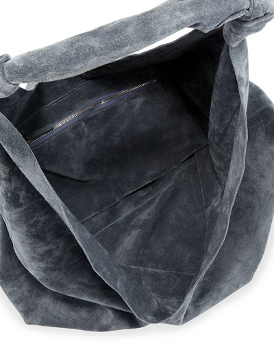 26d8b9d2f47 THE ROW Bindle Double-Knots Suede Hobo Bag