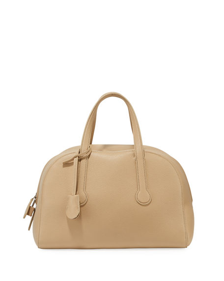 The Row SPORTY BOWLER 12 BAG IN PEBBLED LEATHER