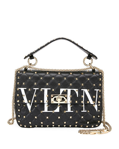 Spike.It Medium VLTN Logo Quilted Leather Shoulder Bag