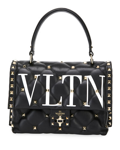 Candystud Medium VLTN Logo Top-Handle Bag