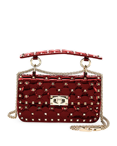 Spike.It Small Quilted Patent Leather  Shoulder Bag