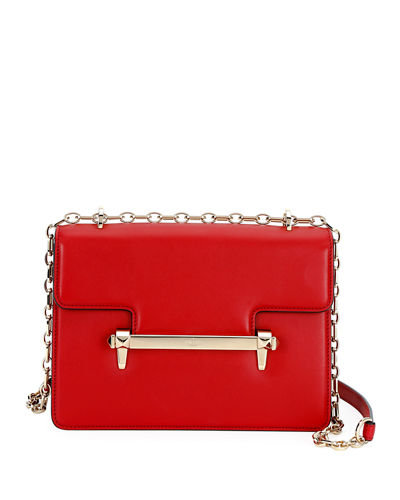 Uptown Calf Leather Chain Shoulder Bag