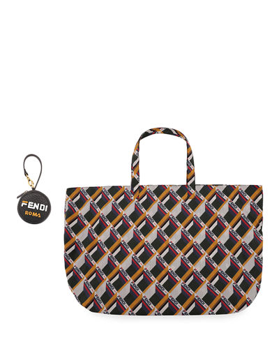 0f3a1190b7 Nylon Fold-Up Tote Bag Quick Look. Fendi